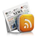 Immagine di un quotidiano e di un tasto con il simbolo RSS