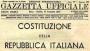 gazzeta, gazzeta ufficiale, costituzione italiana
