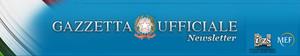 Header Gazzetta Ufficiale Newsletter