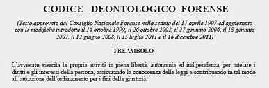 Preambolo del Codice Deontologico Forense
